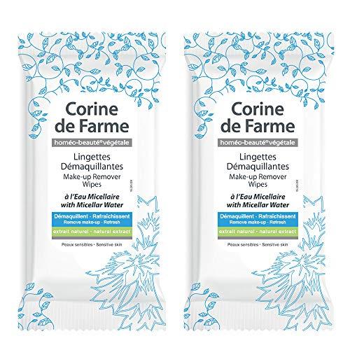 Corine de Farme 040799Pack de 10toallitas démaquillantes al agua micelar––Juego de 2