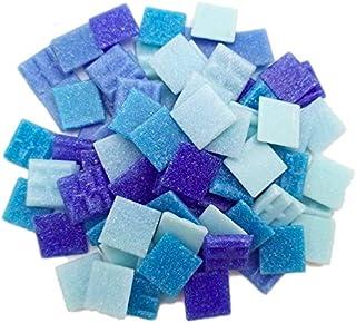 Blau gemischt Circa 350 St/ück Armena 1005 Mosaikstein Mosaikfliesen Glas 1x1cm 250g