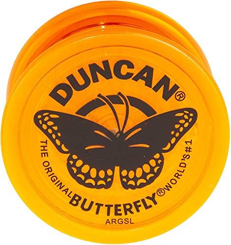 Duncan Toys Butterfly Yo-Yo, Beginner Yo-Yo with String, Steel Axle and Plastic Body, Orange