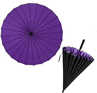 Semi-Automatic Double-Layer Umbrella with a Diameter of 120cm and a Large Umbrella with 24 Bone-Reinforced and Wind-Resistant Umbrellas in 5 Colors