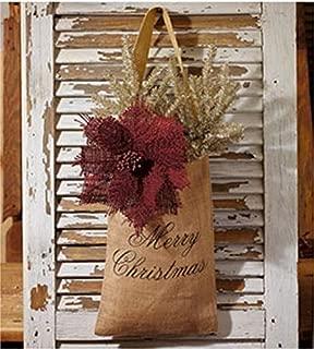 Vintage Hanging Burlap Bag - Merry Christmas (Large (8-in x 12-in))