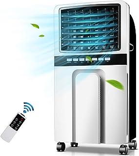 TONG Portátil habitación Aire Acondicionado con Control Remoto, refrigerador evaporativo y el humidificador 3 velocidades y Modo, Enfriador de Agua Tranquila 7,5H Temporizador y 5L del Tanque de Agua