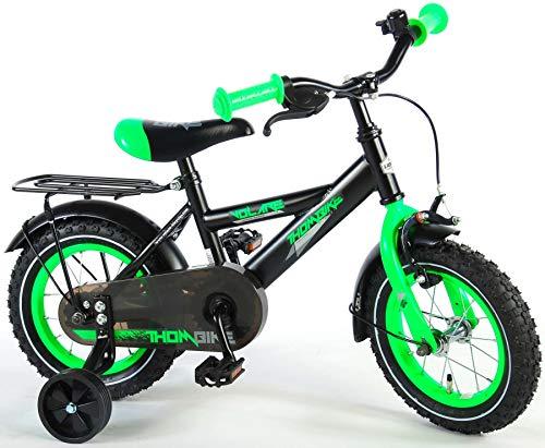 Volare Thombike Kinderfiets - Jongens - 12 inch - Zwart/Groen - 95% afgemonteerd