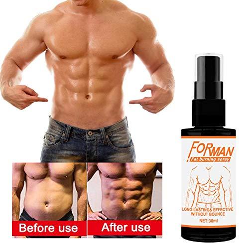cuepar Weight Loss Spray Fatburner, Reiner natürlicher Extrakt, Bauchfettverbrennungsspray Body Line Shaping Herren-Langzeitcreme zur Fettentfernung und Stärkung der Muskeln