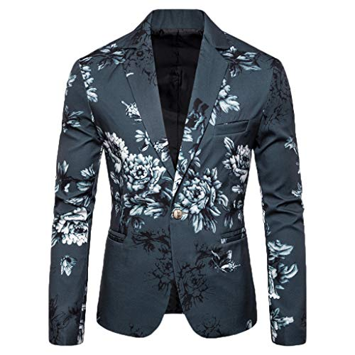 Check Out This Seaintheson Men's Blazer Suit,Casual Long Sleeve Print Jacket Business Wedding Party ...