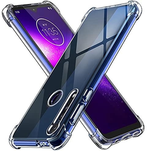 ivoler Klar Silikon Hülle für Motorola Moto One Macro mit Stoßfest Schutzecken, Ultra Dünne Weiche Transparent Schutzhülle Flexible TPU Durchsichtige Handyhülle Kratzfest Hülle Cover