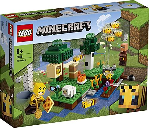 LEGO21165MinecraftLaGranjadeAbejas,SetdeConstrucciónconFigurasdeApicultorayOveja,Jugueteparaniñosyniñas+8años