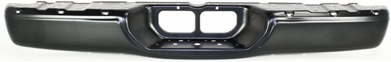 Rear Step Bumper Compatible with Toyota Tundra 2000-2006 Face Bar Only Powdercoated Black Steel Fleetside Base Model