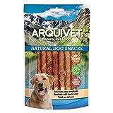 Arquivet Twist de pato enrollado - Snacks Naturales para perros - Chuches para perros - Golosinas para perro - Premios y recompensas para tu mascota - 13 cm - 100 g