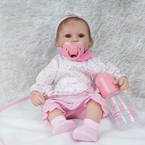 Hongge Reborn Baby Doll,Reborn Puppe Simulation Baby Haut Wie Neugeborene Wiedergeburt Babypuppe 45cm