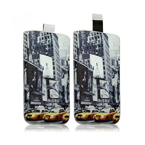 Seluxion-Funda tipo libro para Apple iPhone 5/5S/5C y iPod Touch, diseño de Times Square