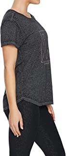 Rockwear Activewear Women's React Keyhole Back Tee Charcoal 14 from Size 4-18 for T-Shirt Tops