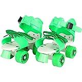 Strauss Kids Roller Skates, 5-11 Years, (Green)