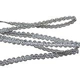 Rosenice - Cinta trenzada para decoración de bodas, cumpleaños, fiestas, eventos, manualidades, adornos (plata) 0,6 cm (10 m)