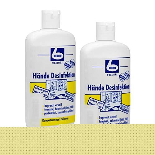 2x Dr. Becher Hände Desinfektion 150 ml