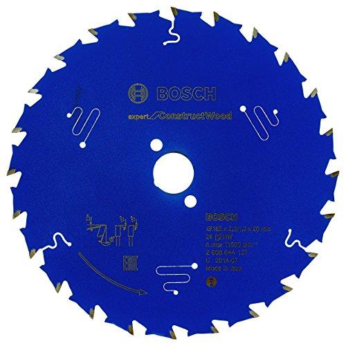Bosch Professional Kreissägeblatt Expert for Construct Wood (Holz, 165 x 20 mm, 24 Zähne, Zubehör Kreissäge)