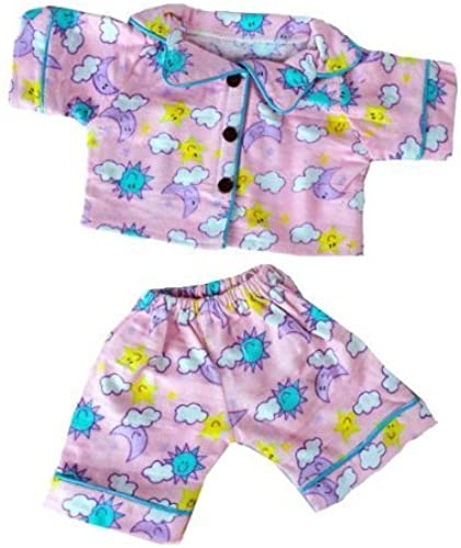 Sunny Days Rosa PJ's Outfit Fits Most 14  - 18  Build-a-bear, Vermont Teddy Bears, and Make Your Own Stuffed Animals by Teddy Mountain