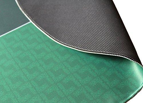 Bullets Playing Cards Profi Pokermatte in 90 x 180cm Eigenen Pokertisch – Deluxe Pokertuch – Pokerteppich – Pokertischauflage – Ideal als Geschenk - 3