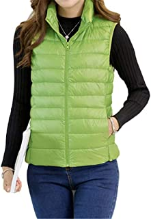Zantt Mens Stand Collar Packable Casual Lightweight Puffer Down Vest Jacket