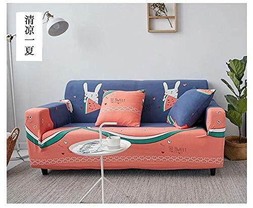 Funda de sofá de Alta Elasticidad,Funda de sofá elástica estampada, funda de cojín universal para todas las estaciones con todo incluido, funda de protección para la carcasa de los muebles, color 8_1
