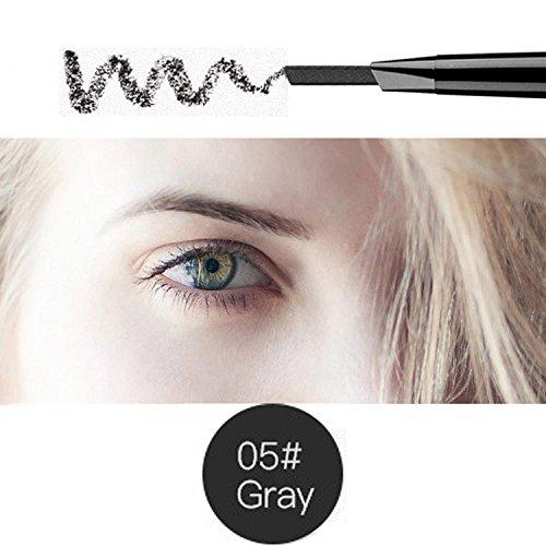 Magical Halo Crayon à sourcils Sourcils de précision imperméable gris double extrémité (gris/Gray # 5)