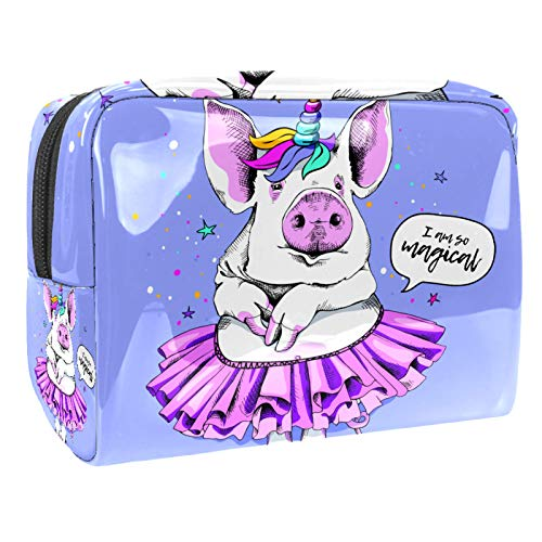 Neceser de Maquillaje Estuche Escolar para Cosméticos Bolsa de Aseo Grande Bailarina Unicornio