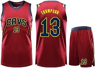 HS-QIAN1 13# Conjunto De Camiseta De Baloncesto De La NBA Tristan Thompson Cleveland Cavaliers Ventilador De Baloncesto Rápido No Se Puede Permitir El Balón Camiseta De Competición Roja,M(155~160)