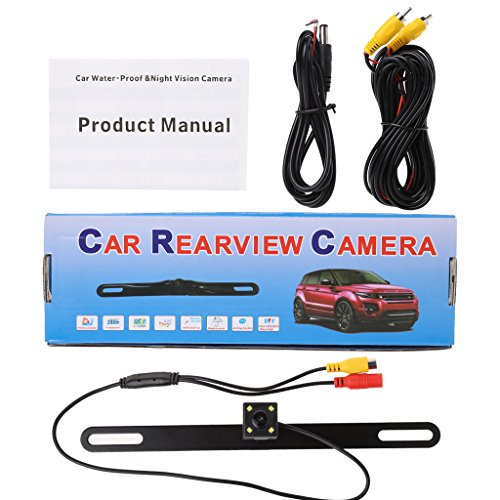 GROOMY Caméra de recul arrière pour Plaque d'immatriculation inversée de stationnement arrière de Voiture Universelle