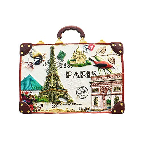 3D Koffer Paris Frankreich Kühlschrank Kühlschrank Magnet Tourist Souvenirs Handmade Harz Handwerk Magnetischen Aufkleber Home Küche Dekoration Reise Geschenk