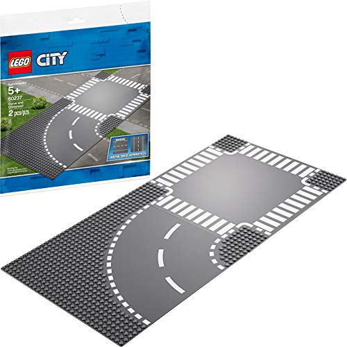 LEGO City Curve and Crossroad 60237 Building Kit (2 Pieces)