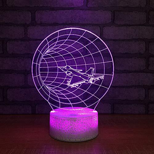 Neue Lampe der intelligenten Nachttischlampe des Flugzeug-3d kreative geführtes Augenpflege-Nachtlicht Luminaria De Mesa usb führte Leuchten 3d
