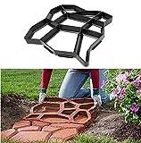 YJZ Road Concrete Molds, Pavement Mold,DIY Plastic Path Maker Mold,Manually Paving tools,Garden tools 43 * 43 * 4cm