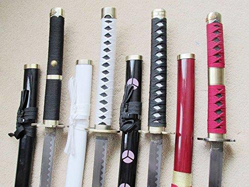 S2689 ONE Piece Shusui Sandai Kitetsu Wado Ichimonji Yubashiri Sword Brush Hamon Blade 41' Lot 4 pcs