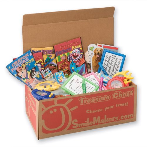 SmileMakers Kids Activity Treasure Chest - 184 Toys per Pack