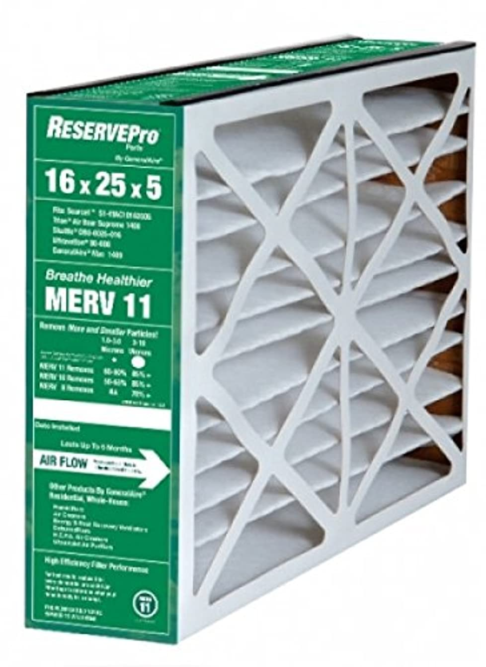 ReservePro 16x25x5 # 4511 furnace filter, Actual Size:15 5/8