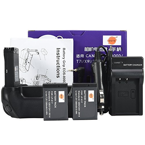 DSTE eos-800d Akku Griff mit 2x lp-e17Akku und USB Ladegerät für Canon EOS 800D t7i X9i 77D 9000D