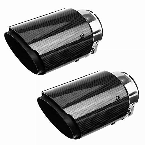 63mm Auto Kohlefaser Auspuff Schalldämpfer Universal Auspuffspitzen Blende Heck Endrohr Carbon Styling Tuning Exhaust (2)