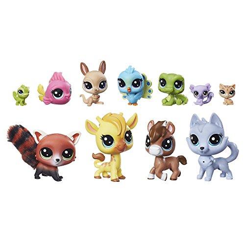 Hasbro Littlest Pet Shop LPS ein bunter Haufen A Colorful Bunch Set 11 Stück