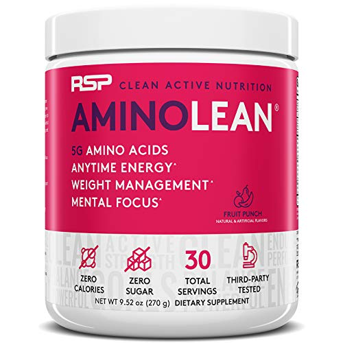 RSP AminoLean - All-in-One Pre Workout, Amino Energy, Weight Management Supplement with Amino Acids,...
