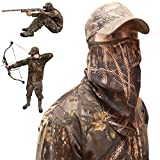 DecoyPro Camo Face Mask Half Mask – Camo Face Masks Hunting Mask – Turkey Hunting Face Mask – Bow Hunting Face Mask Mesh - Duck Hunting Face Mask – Camouflage Face Mask Hunting