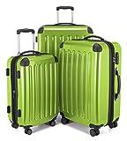 HAUPTSTADTKOFFER - Alex - Set di 3 valigie, 4 Doppie ruote, TSA, Nero brillante, (S, M & L...
