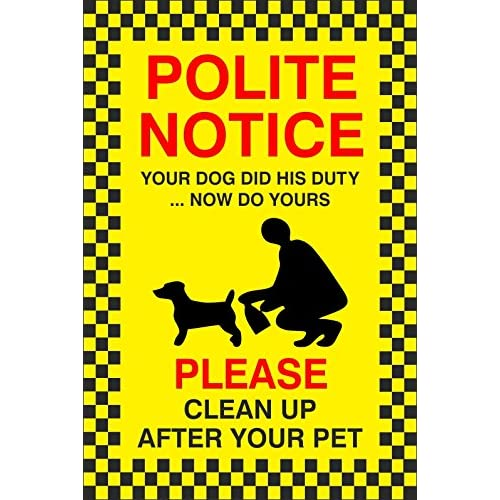 No Fouling Dog Sign All Sizes /& Materials