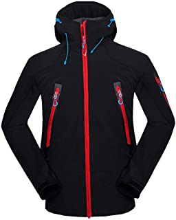 Mens Autumn Casual Fashion Waterproof Quick-Drying Breathable Sport Outdoor Coat(Color:Black & Material:Polyester)