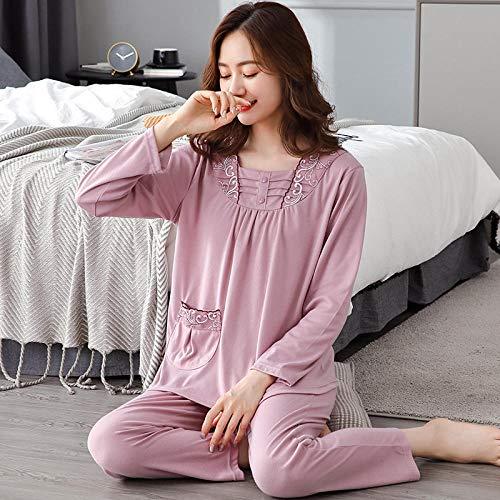 Nightshirt Women Sleepwear, Women's winter cotton home wear pajamas,-FX3085_XL, Pajamas Set for Women