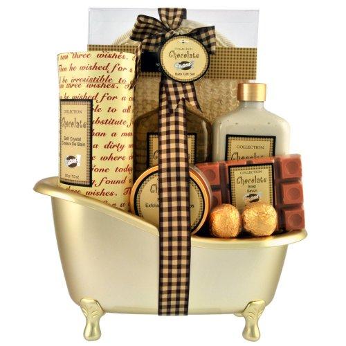 Gloss - caja de baño, caja de regalo para mujeres - Bañera de Baño Regalo - Chocolate
