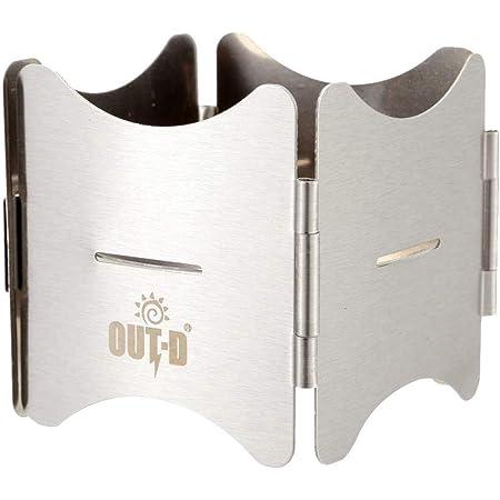 OUT-D アウトドア アルコールバーナーキャンプ折りたたみ 携帯型のアルコールストーブ台