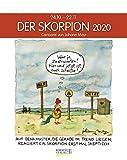 Skorpion 2020: Sternzeichenkalender-Cartoonkalender als Wandkalender im Format 19 x 24 cm.