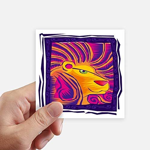 DIYthinker Constellation Leo Mexicon Gravure Autocollant carré 10CM Mur Valise pour Ordinateur Portable Motobike Decal 8Pcs 10Cm X 10Cm Multicolor