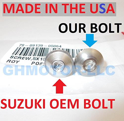 1999 2000 2001 2002 2003 2004 2005 2006 2007 HAYABUSA GSX1300R OEM Style Fairings Bolts Screws Fasteners Kit Set Made in USA Silver