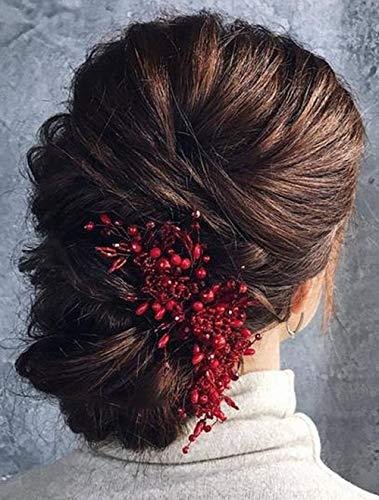 Deniferymakeup Brautschmuck Haarkamm Roter Haarkamm Goji Beeren Haarschmuck Brautschmuck Cranberry Braut Kopfbedeckung Herbst Hochzeit Haarschmuck Ranke Schwarz